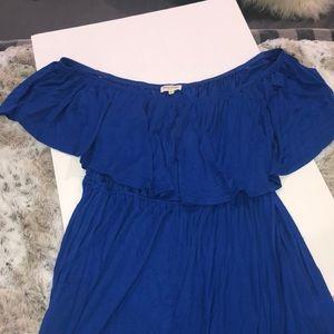 Off the shoulder maxi dress blue size 3X